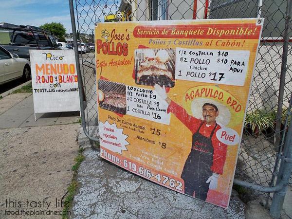 Chicken and Ribs Menu | Jose's Pollos - San Diego, CA