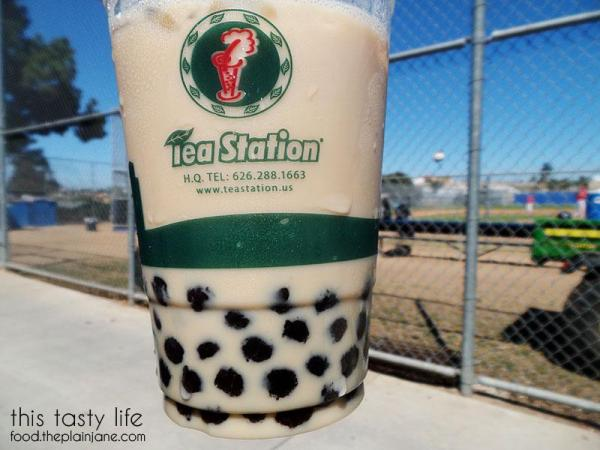 Milk Tea with Boba from Tea Station