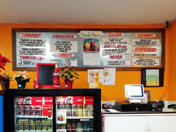 Tamales Ancira - menu | This Tasty Life - San Diego food blog