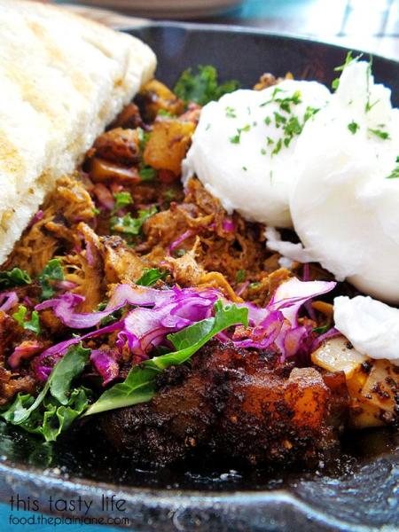 Pulled Pork Hash Breakfast at Nate's Garden Grill   San Diego, CA - This Tasty Life