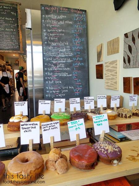 Drink Menu & Donuts at Nomad Donuts / San Diego, CA