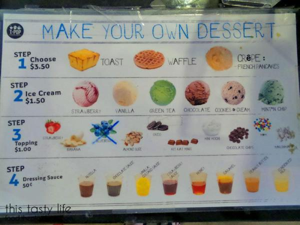 Make Your Own Desserts Menu at T-Pop Desserts & More | San Diego, CA