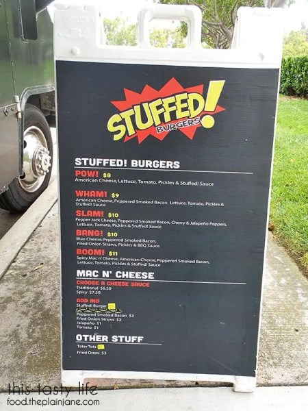 Stuffed! food truck menu | San Diego, CA