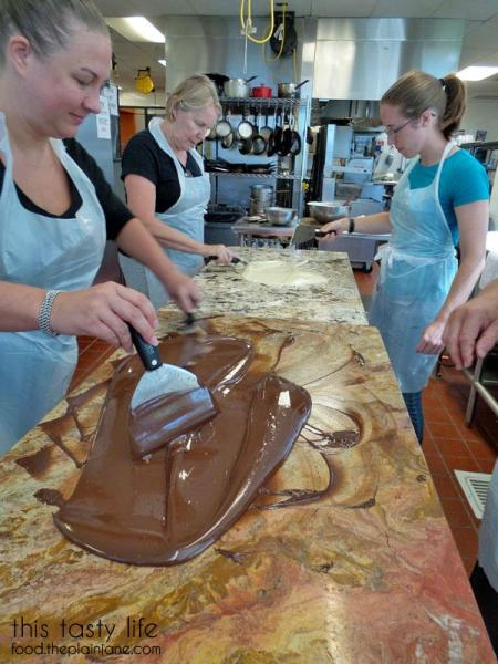 stacey-tempering-chocolate