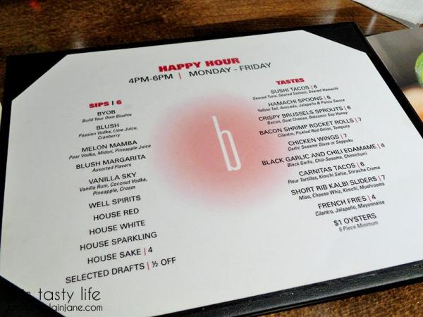 Happy Hour Menu - Blush Ice Bar | San Diego, CA