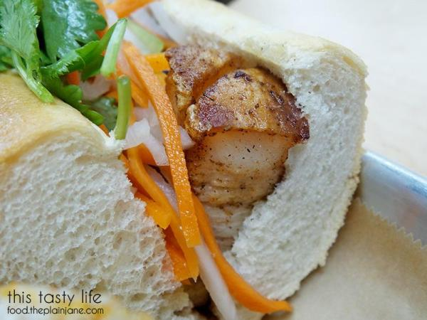 Crispy pork belly at Baguette Bros - San Diego, CA