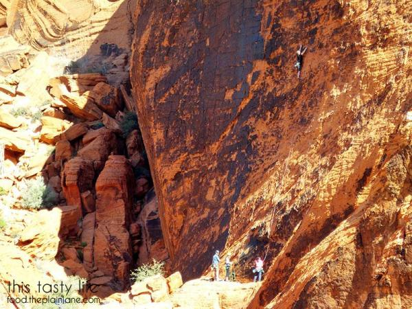 Whoa, rock climbing at Red Rock Canyon | Las Vegas, NV