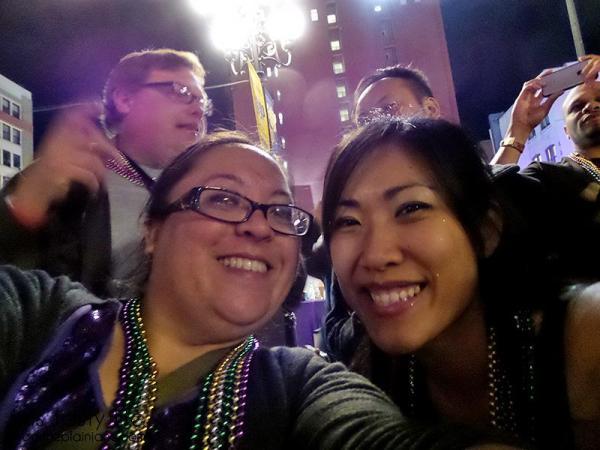 Mary and Lynn at Mardi Gras San Diego
