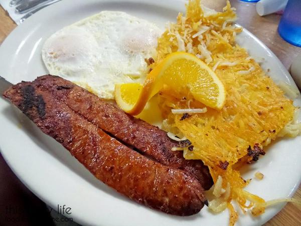 Portuguese Sausage and Eggs | Lemon Grove Cafe - San Diego, CA