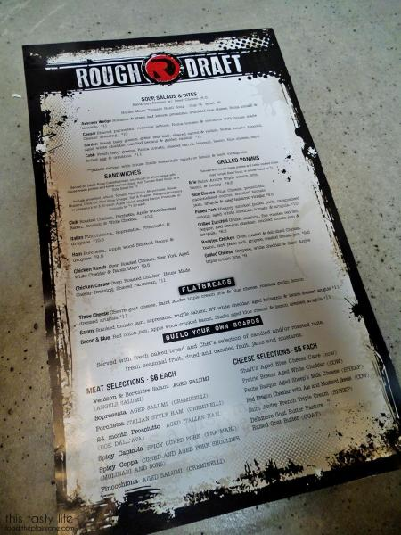 Food Menu | Rough Draft Brewing Company - San Diego, CA | This Tasty Life