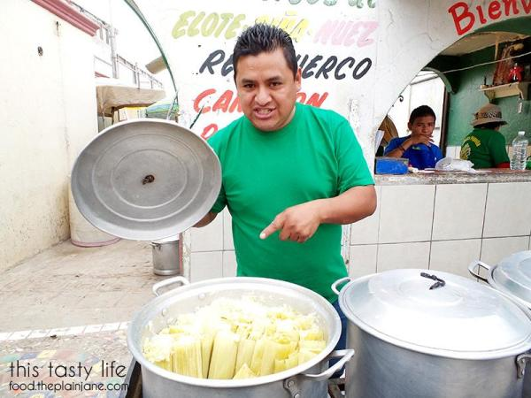 Selling the fresh corn tamales in Popotla, Mexico | This Tasty Life
