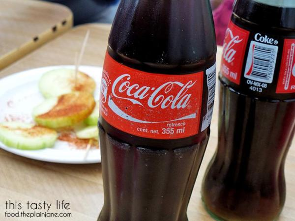 Coca-cola comes in glass bottles | Tacos Salceados | Tijuana, BC Mexico - This Tasty Life