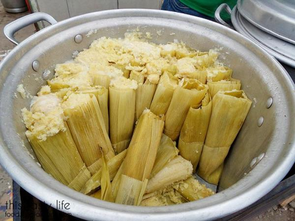 Pot of freshly steamed tamales in Popotla | This Tasty Life