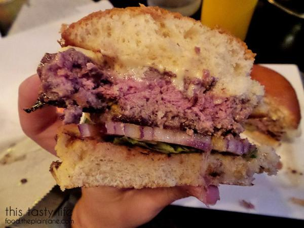 Cross section of the Harris Ranch Beef Burger at South Park Abbey   San Diego Burger Week 2016   This Tasty Life