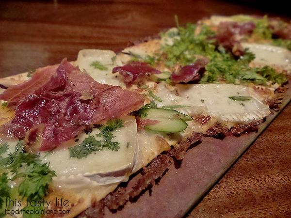 Prosciutto Asparagus Flatbread at Seasons 52 | San Diego