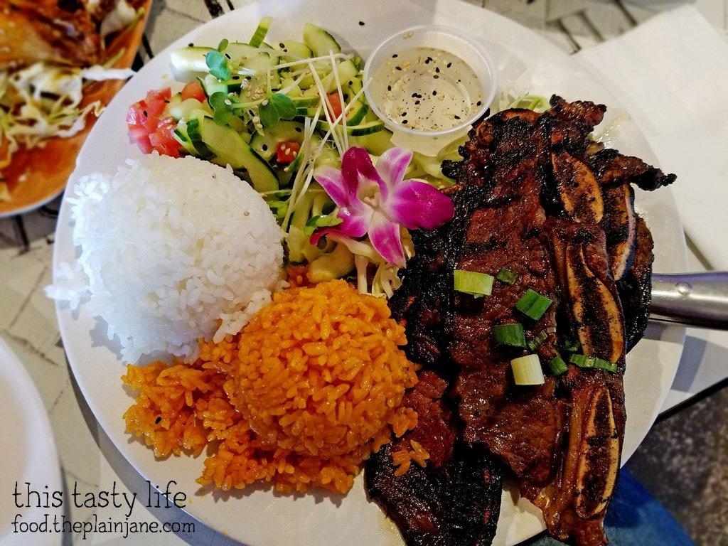 Kalbi Ribs Plate   Matua's Sushi Bar and Islander Grill - Chula Vista, CA