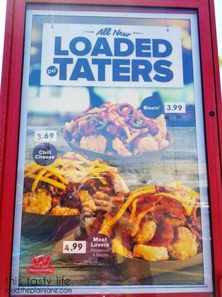 Loaded Po'taters Menu at Wienerschnitzel