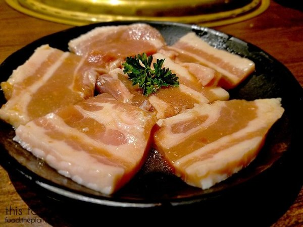 Slices of pork belly | Gyu-Kaku Japanese BBQ - Scripps Ranch / San Diego, CA