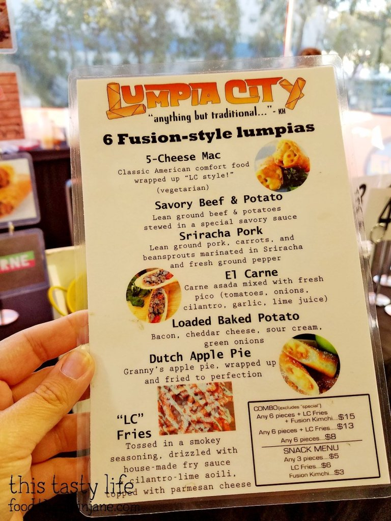 Lumpia City Menu
