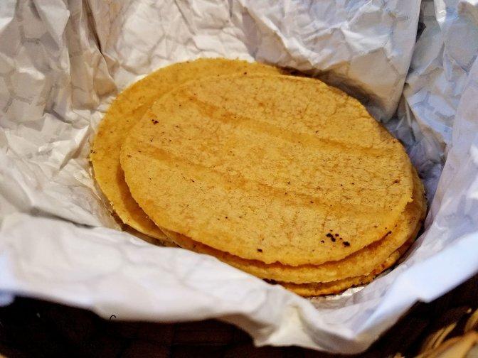 Fresh corn tortillas at Cocina 277 Artesanal