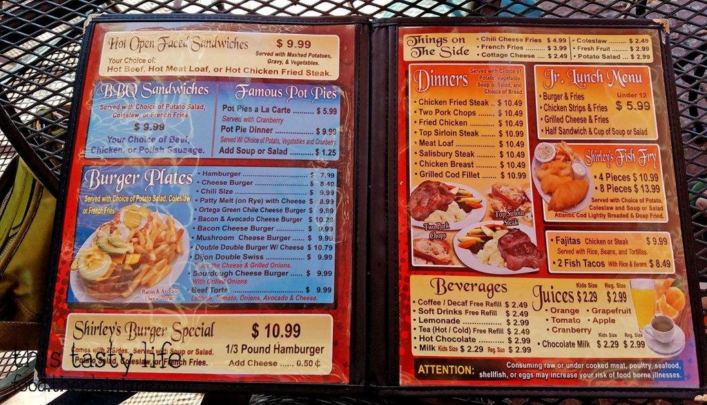 Menu at Shirley's Kitchen | La Mesa