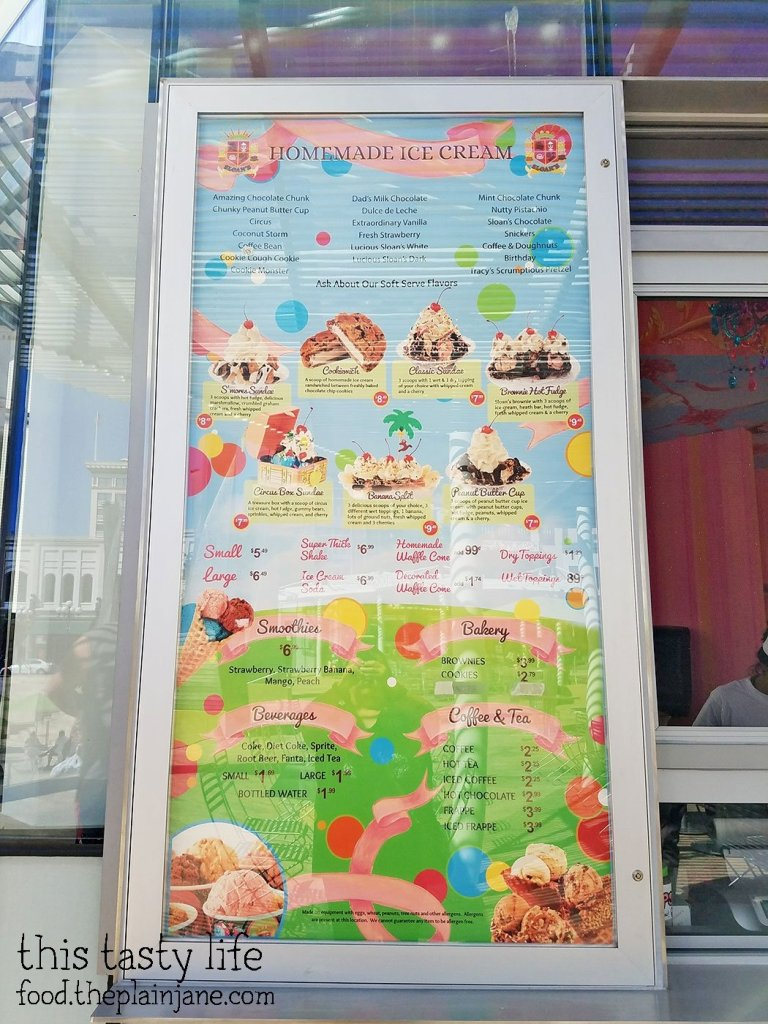 Menu at Sloan's Ice Cream | San Diego, CA