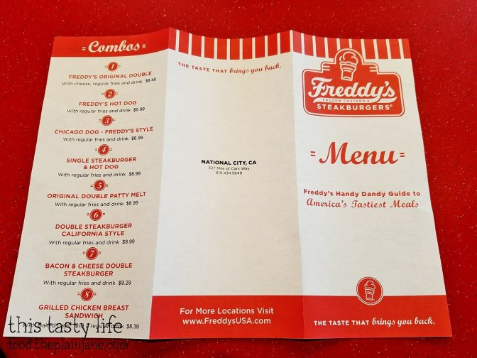 Combo Menu - Freddy's Frozen Custard & Steakburgers   National City - San Diego, CA