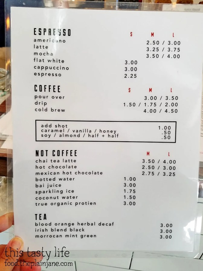 Drinks Menu - The King's Craft Coffee Co / Poway, CA