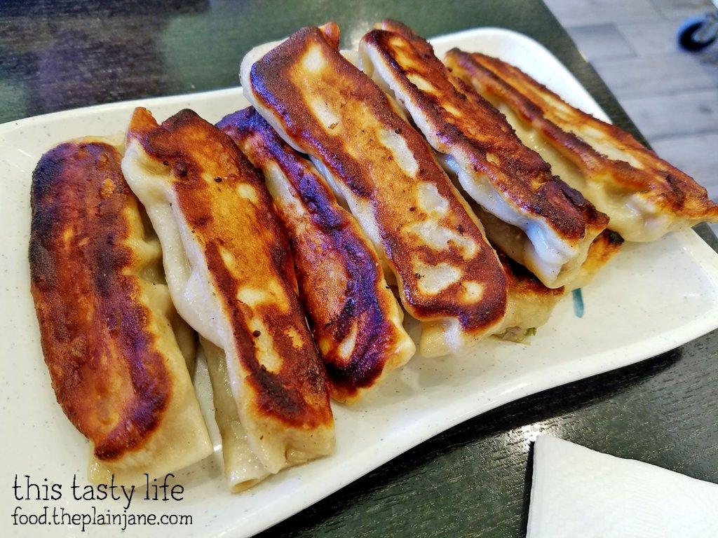 Pan Fried Pork Dumplings at A&J Restaurant | Irvine, CA