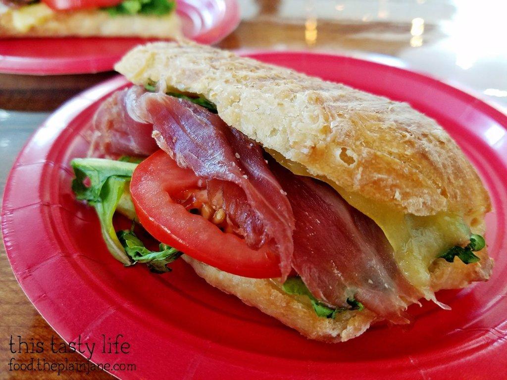 Sandwich closeup - The King's Craft Coffee Co / Poway, CA