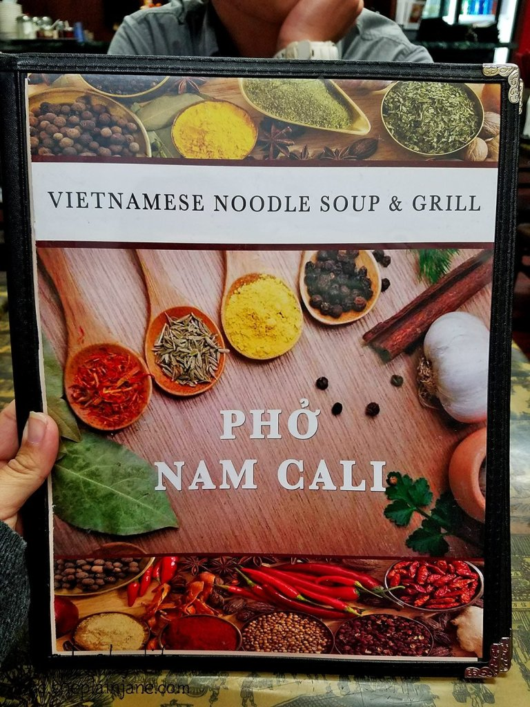 Menu Front | Pho Nam Cali - National City, CA