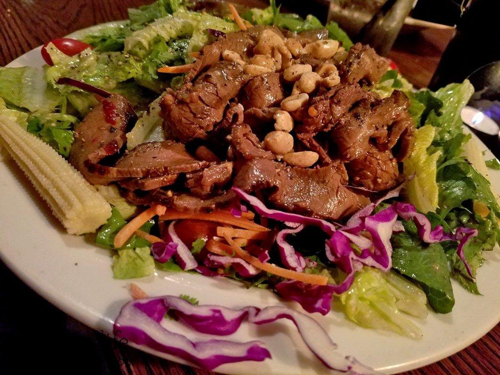 Mongolian Beef Salad at Beaver Street Brewery | Flagstaff, AZ