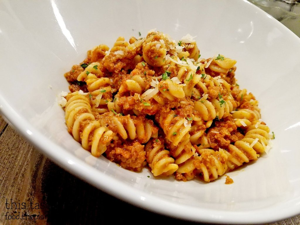 Fusilli Bolognese at Red Card Cafe | San Diego, CA