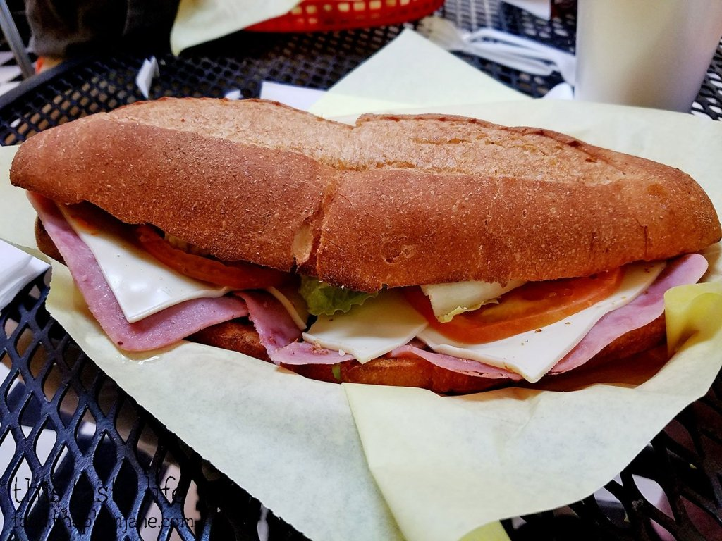 Ham and Cheese Torta Sandwich from Fruteria La Buga - San Diego, CA - This Tasty Life