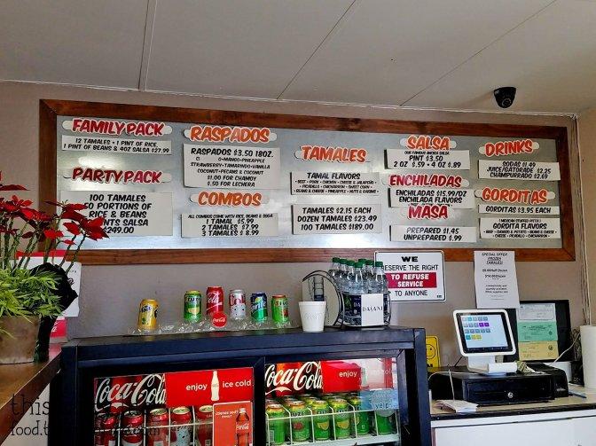 Menu at Tamales Ancira - Chula Vista, CA - This Tasty Life
