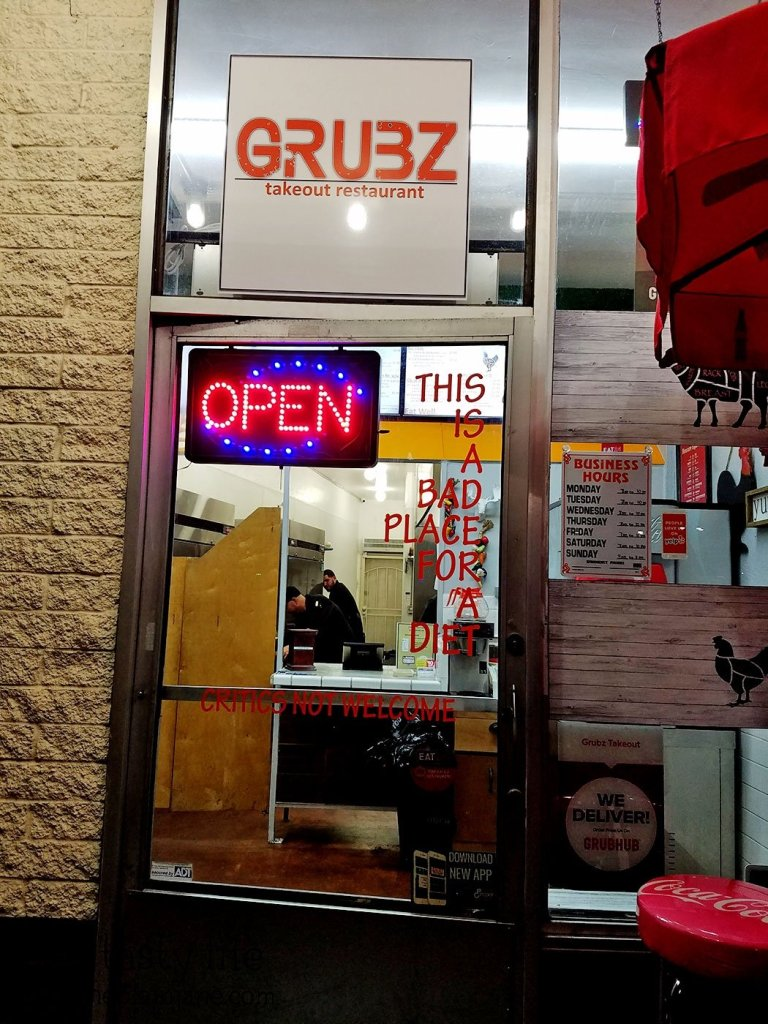 Bad Place for a Diet at Grubz Takeout Restaurant | San Diego, CA