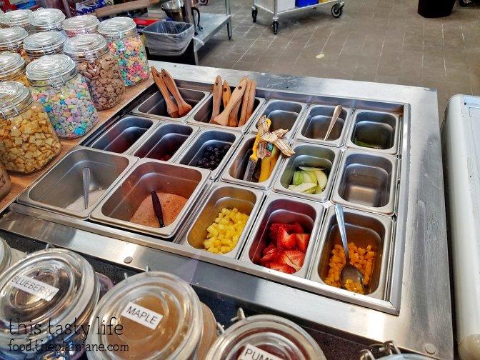 Fruit toppings at Halfsies Doughnuts | Tustin, CA | This Tasty Life