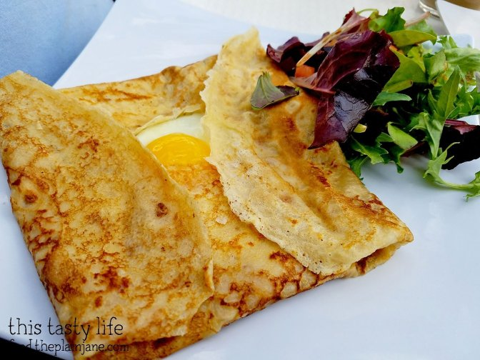 Ham, cheese and cheese crepe at Le Parfait Paris | San Diego, CA
