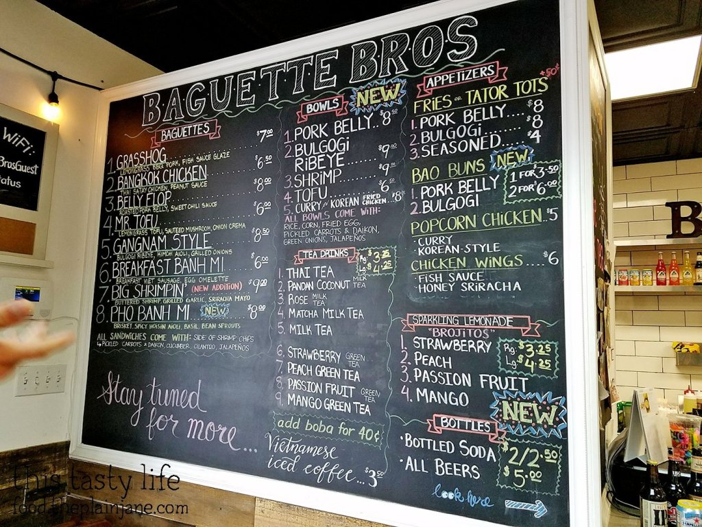 Updated Menu at Baguette Bros | San Diego, CA | This Tasty Life