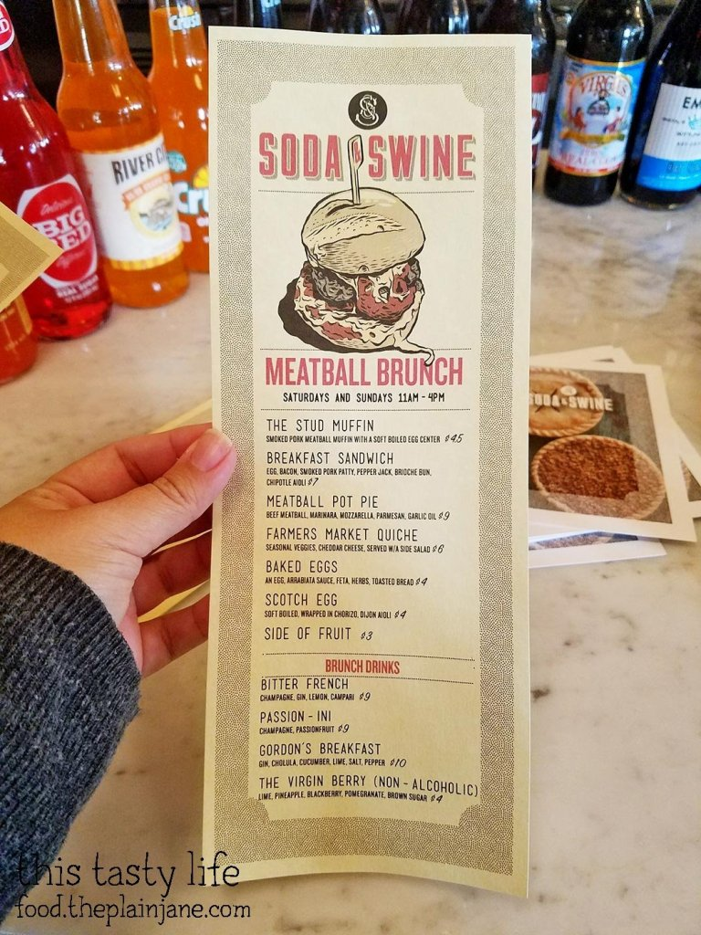 Meatball Brunch Menu at Soda & Swine | San Diego, CA