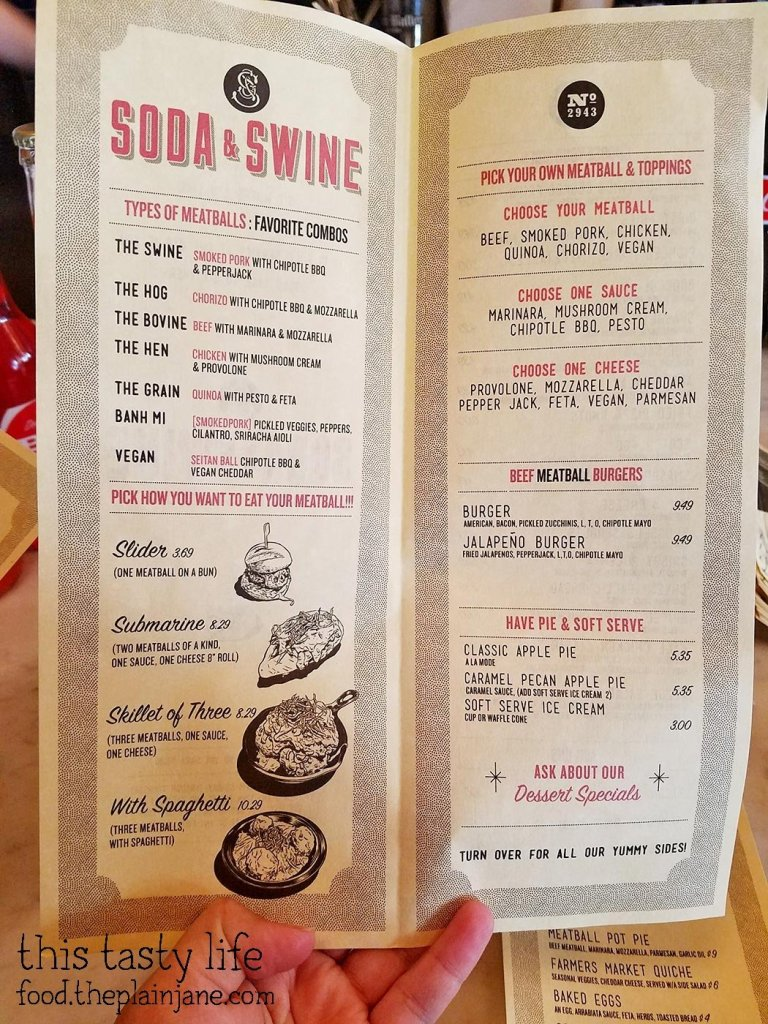 Menu at Soda & Swine | San Diego, CA