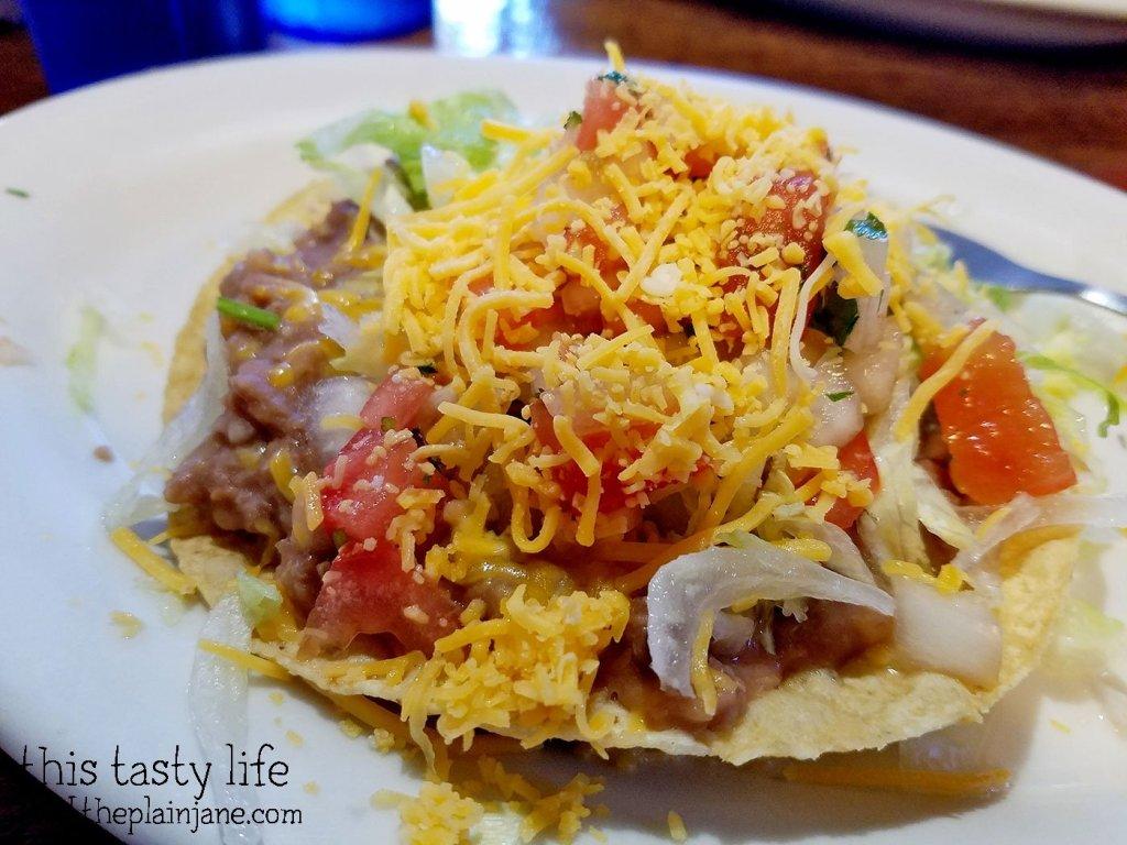 Bean Tostada at Pokez Mexican Restaurant - Downtown San Diego, CA