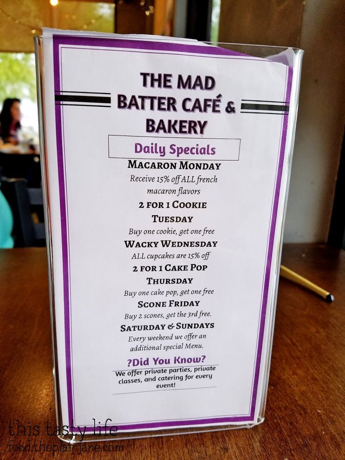 Daily Specials at The Mad Batter Cafe - Henderson, NV