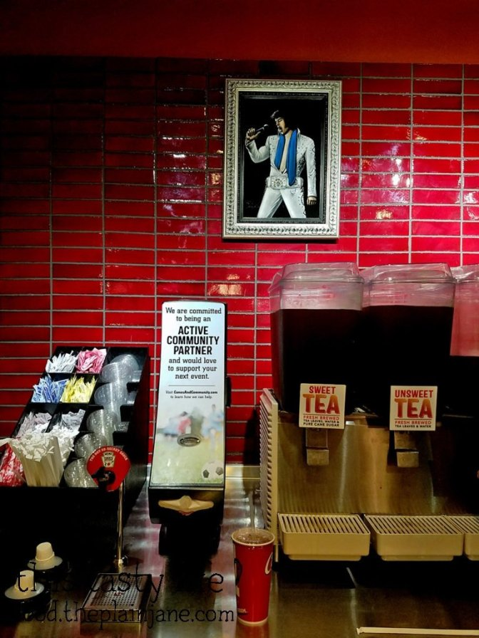Tea + Elvis at Raising Cane's Chicken Fingers