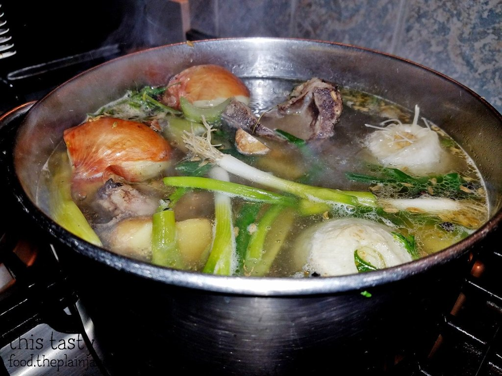 Pork Bone Broth - First Boil | This Tasty Life