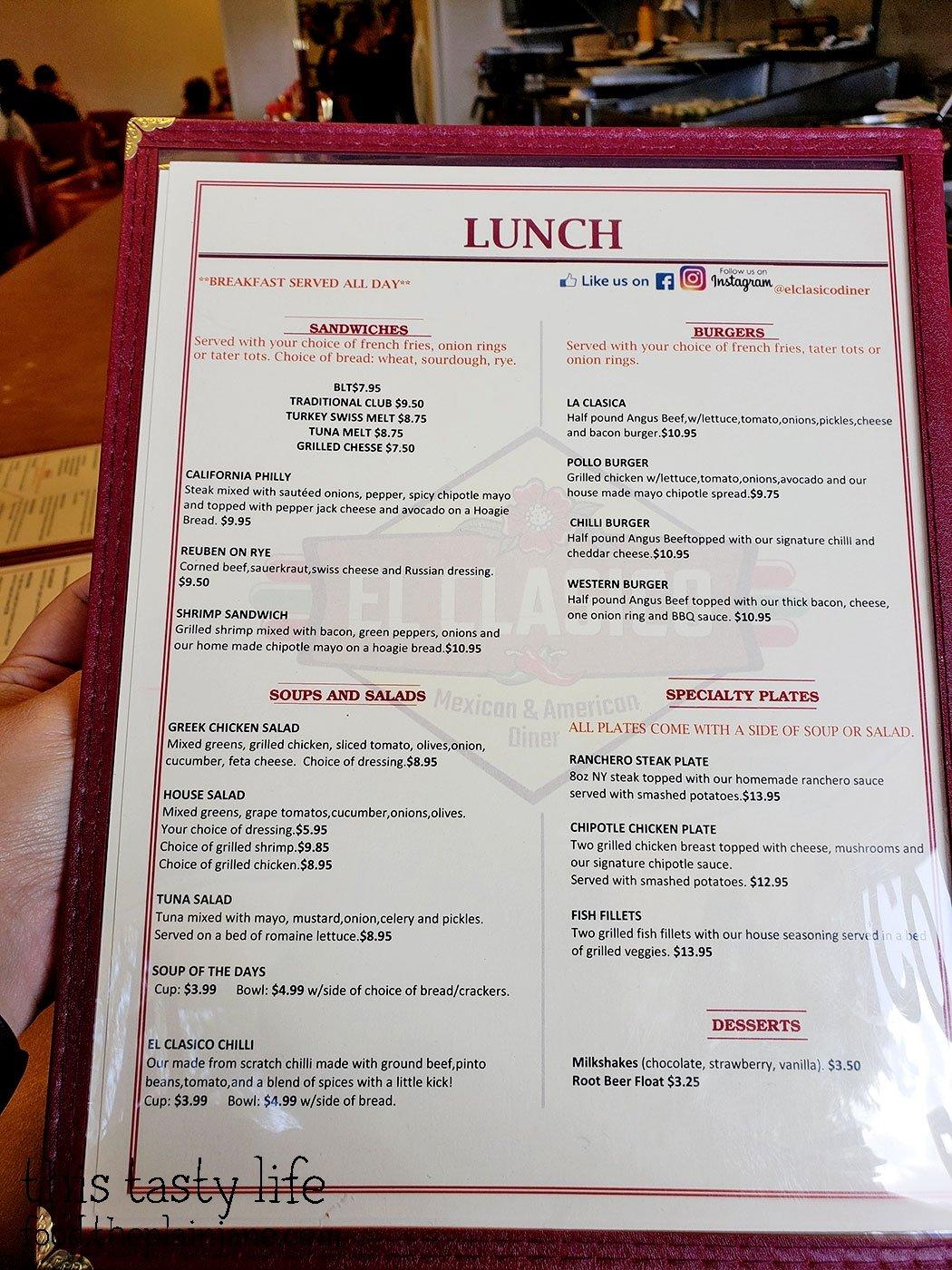 El Clasico Diner - Lemon Grove, CA - This Tasty Life