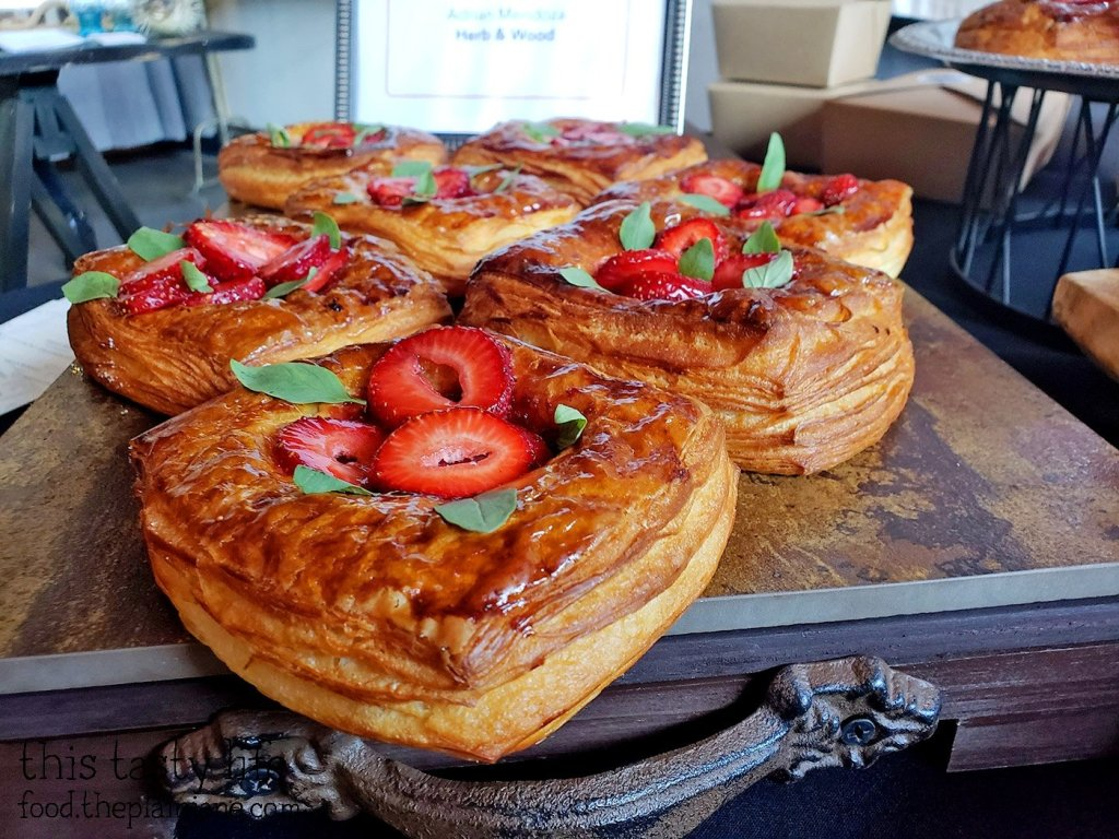 Strawberry Thai Basil Danish at Chef Driven Bake Sale - San Diego, CA
