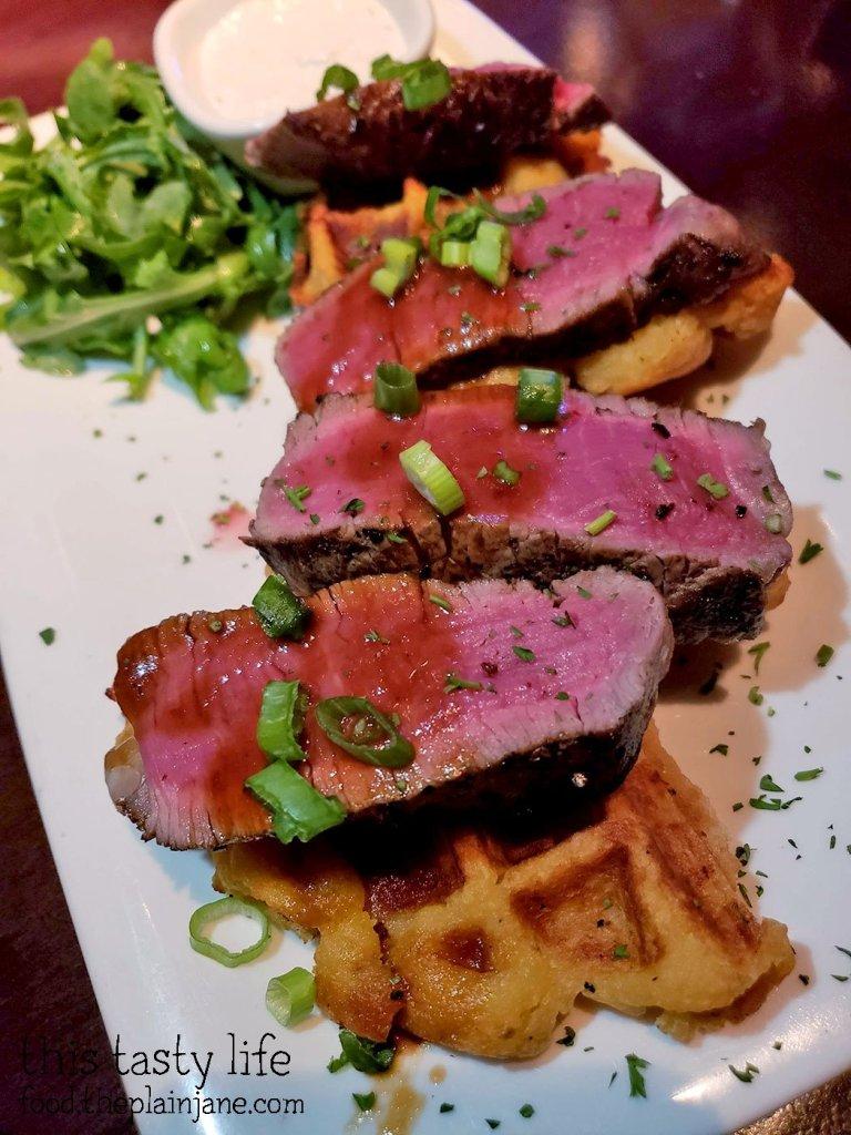 Filet Mignon and Potato Waffle at Fleming's Prime Steakhouse - La Jolla, CA