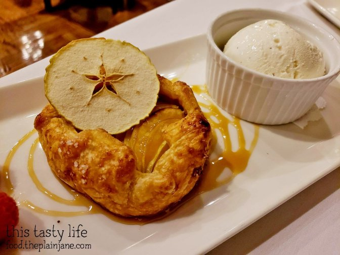 Apple Galette with Vanilla Bean Ice Cream and Salted Caramel at La Gran Terraza at USD - San Diego, CA