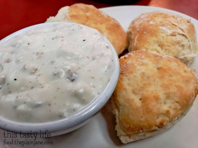 Biscuits and Gravy at Philippe the Original - Los Angeles, CA